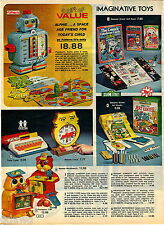 1978 ADVERTISEMENT Playskool Alphie Sesame Street Colorforms Art Studio Robot