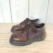 Dr Martens Brown Leather Plaform Shoes Air Ware Boots Size US 9 CON 41 UK 7