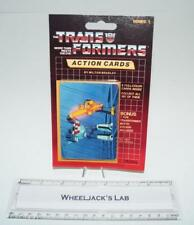 Wheeljack Sealed Pack Card #44 Transformers Trading Action Cards 1985 G1