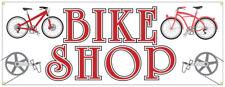Bike Repair Banner Bicycle Shop Cycle Rental Sign 36x96