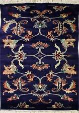 Rugstc 2.5x4 Pak Persian Blue Area Rug, Hand-Knotted,Floral with Wool Pile