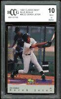 1992 Classic/Best Blue Bonus #BC22 Derek Jeter Rookie Card BGS BCCG 10 Mint+