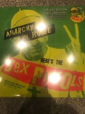 The Sex Pistols 'Anarchy in rome ltd snot green vinyl Lp + Slipmat ! - Brand new