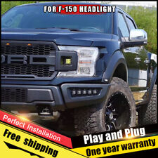 For Ford F-150 Headlights assembly Bi-Xenon Lens Double Beam HID KIT 2018 2019