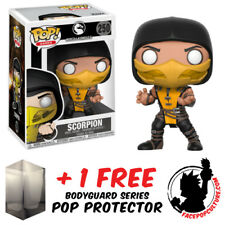 FUNKO POP MORTAL KOMBAT X SCORPION VINYL FIGURE + FREE POP PROTECTOR