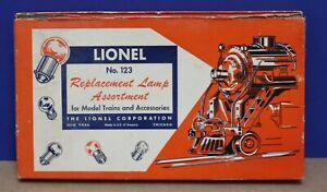 Lionel 123 O Lamp Assortment 1953 Complete/ Original