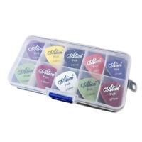 Alice Gitarre plektron 1 Box Fall 40Stk Plektrum Mediator Mischung 0.58-1.5D1S2L