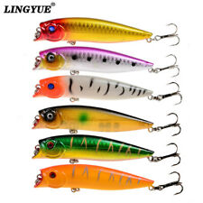 New  Arrival Top Water Popper Fishing Lures 6pcs/Lot Hard Baits Fishing Tackle