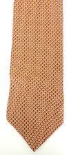 NAUTICA Mens Orange Gray & Black Print Preppy Classic Silk Tie Necktie
