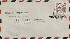 1940 Curacao cover sent to Chrysler Corporation Detroit USA