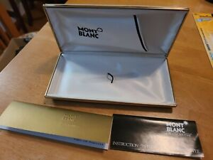 Mont Blanc Pen Presentation Case Box Only | White | Gold Trim |  NO PEN