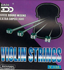 Set of Violin Strings Steel Extra Super Light UK