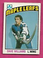1976-77 OPC # 373 LEAFS DAVE TIGER WILLIAMS ROOKIE VG+  CARD (INV# C0271)
