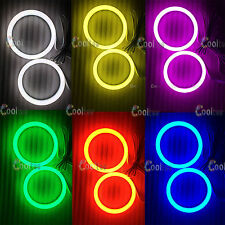 80MM LED Multi-color Soft Cotton light RGB Angel Eyes Halo Ring Bulb Remote kit