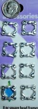 8 Antique silver plated 14 x14mm bead frame finding links frame 8mm beads fpb058