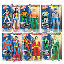 DC Comics Justice League Mego Style Action Figures Series 1: Set of all 6 by FTC