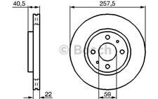 1x BOSCH Disco de freno delantero Ventilado 257mm Para FIAT DOBLO 0 986 479 B43