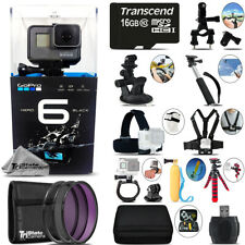 GoPro Hero6 Black 4K Ultra HD Camera + Filter Kit UV-CPL-FLD & More! - 16GB Kit