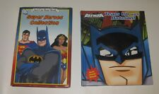 2 LOT DC SUPER HEROES COLLECTION 5 IN 1~ TEAM-UP WITH BATMAN with MASK Hardcover