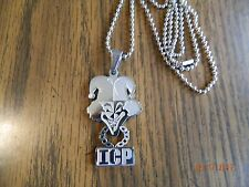"ICP ""Carnival of Carnage"" Polished Stainless Steel pendant w/30 inch ball chain"
