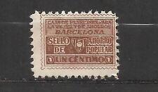 1674-SELLO FISCAL 1930 CAJA PENSIONES VEJEZ AHORRO BARCELONA 1 CENTIMO.ANTIGUO S