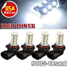 4x 6000k White HB3 9005 18SMD 5050 LED Car Fog Driving Daytime Running Lights