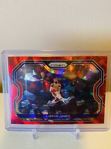 🏀 2020-2021 Panini Prizm Basketball Lebron James Red Cracked Ice Kobe Tribute