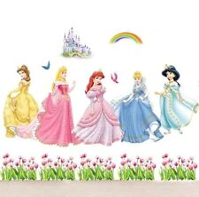 DISNEY PRINCESS CASTLE LARGE WALL STICKER DECAL NURSERY/KIDS/GIRLS ROOM MURAL