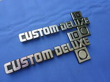 NEW 1981-88 Chevy Chevrolet Truck Custom Deluxe 10 Fender Emblem Pair GM Lic