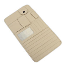 Car Beige Sun Visor Pouch Organizer Card Tissue Box CD DVD Holder Bag Pocket