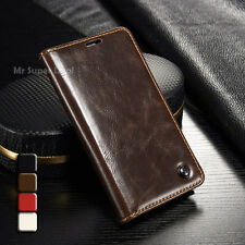 Für Galaxy S5 Mini Leder Synthetisch Tasche Etui Case Cover Hülle Zubehör Braun