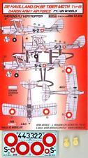 KORA Decals 1/72 DE HAVILLAND D.H.82 TIGER MOTH Danish Army Air Force Part 1