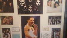 queen/freddie mercury genuine hand signed professionally framed 39x31 inch