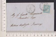 s1622) Folder/Lettera 1/11/1864  Torino Genova affr. 15c (Sass. n.L18)