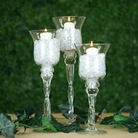 "31.5/"" 10mm Crystal Bead White Columns W// Mirror Mosaic Event Decoration 4PCS"