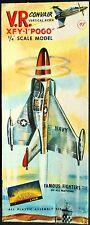 "Vintage (1956) AURORA Kit No.60-98, CONVAIR XFY-1 ""POGO"" 1/48, - 100% COMPLETE"