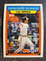 Cal Ripken Jr Orioles 1988 Topps K-Mart Memorable Moments #21 JM
