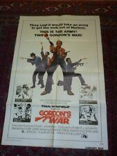 gordons war  film poster usa original  blaxexploitation rare