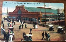 Antique Postcard Atlantic City New Jersey 1910 Board Walk And Youngs Pier.