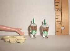 FASHION DOLL MINIATURE RE-MENT 1/6 SCALE DRINK HOLDER ACCESSORY & GOURMET COFFEE