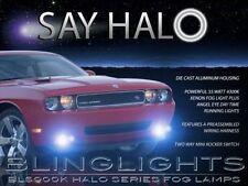 2008-2014 Dodge Challenger Fr Bumper White Halo Fog Lamps Driving Lights Kit