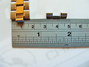 AUTHENTIC TAG HEUER CARRERA / AQUARACER GOLD PLATED TWO TONE SHOULDER/ END LINK