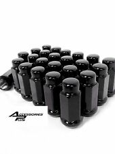 24 Pc BLACK CHEVY TAHOE AFTERMARKET CUSTOM WHEEL LUG NUTS 14m x 1.50  # 1909LBK
