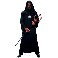 Black Unisex Adult Costume Robe & Hood | Witch | Demon | Grim Reaper PMG 6721064