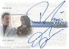 XENA - QUOTABLE DUAL AUTOGRAPH CARD - LUCY LAWLESS & TED RAIMI DA8