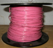 TFN/MTW/AWM #18 AWG Fixture Wire - Solid Copper - 600V - 6 AMP  Pink