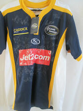 Leeds Carnegie 2008-2009 squad signé Home Rugby Union Chemise Bnwt COA / 9264