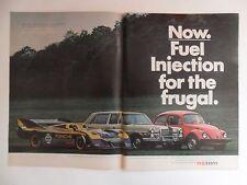 1975 Print Ad Volkswagen VW Bug Beetle Automobile Car ~ Fuel Injection Frugal