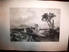 BENEVENTO,incisione originale metà XIX secolo.Harding,CAMPANIA