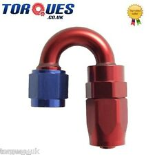 AN -6 (AN6 AN 06) 180 Degree Fast Flow Hose Fitting